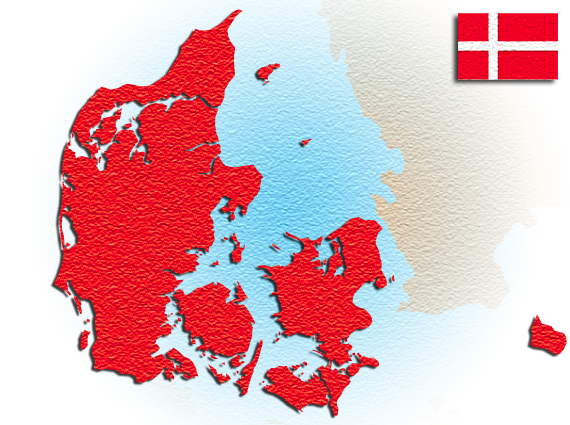 Carte du Danemark